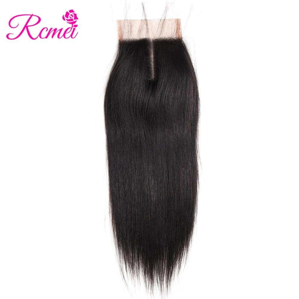 HTB1mZAsmnqWBKNjSZFAq6ynSpXa0 Brazilian Straight Human Hair Weave Bundles with Closure 3 Bundles With Lace Closure 4*4 Remy Human Hair Bundles Extensions