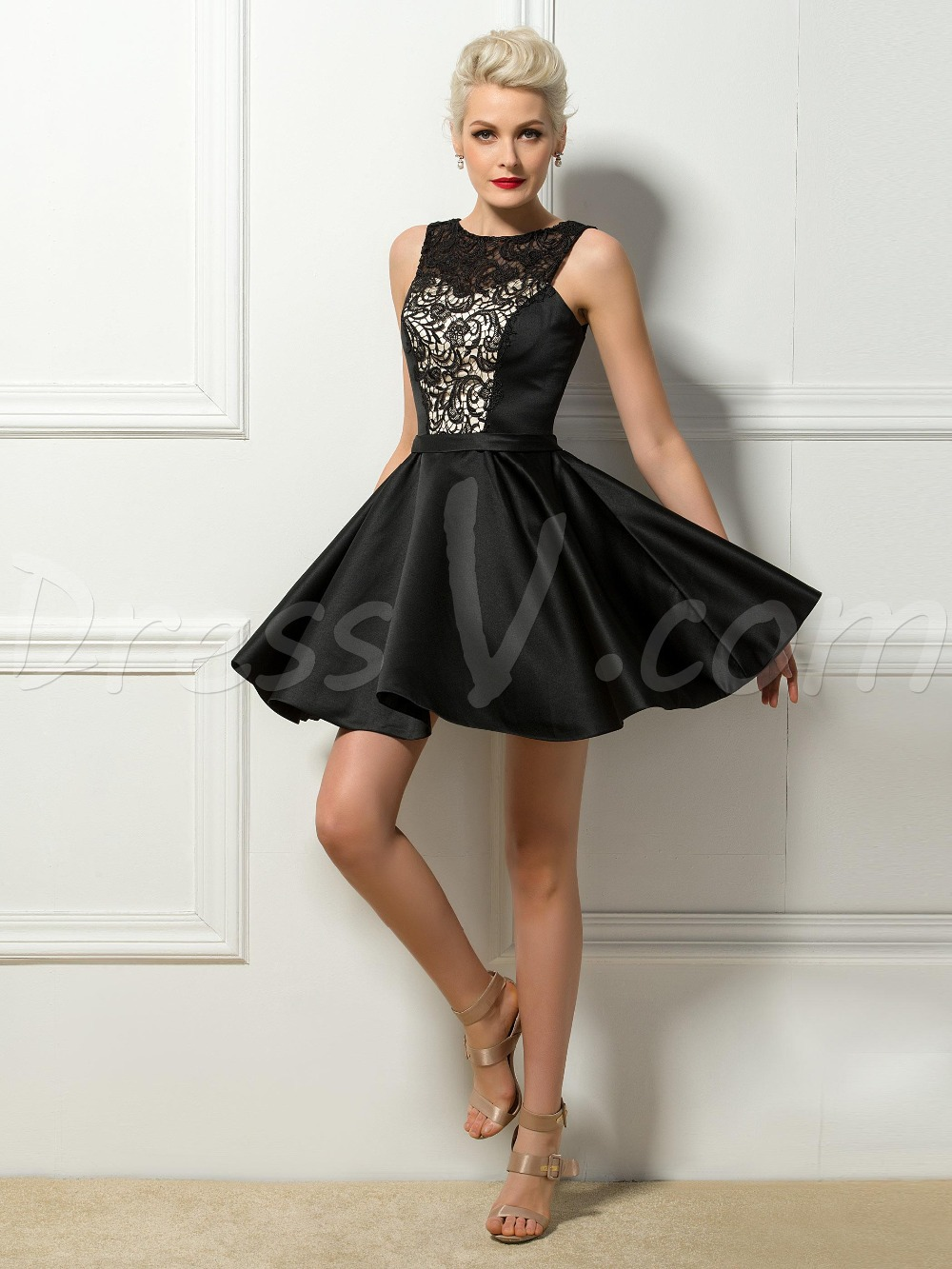 Vintage Short Black Cocktail Dresses Little Black Dresses Back to ...