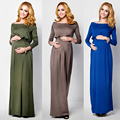 Hot Maternity Dress for Photo Shoot Maxi Maternity Gown Sexy Maternity Photography Props Elegant long sleeve Soft Fashion Dress