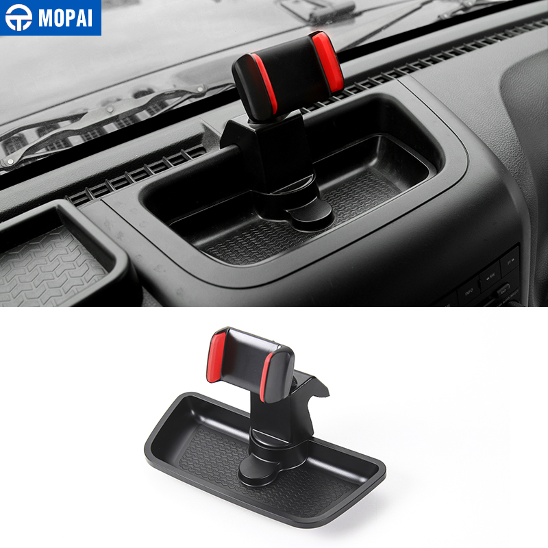 MOPAI Hot Selling ABS Car Windshield Mount Cell Mobile Phone Holder Stand Bracket Sticker For Wrangler 2012-2016 Car Styling