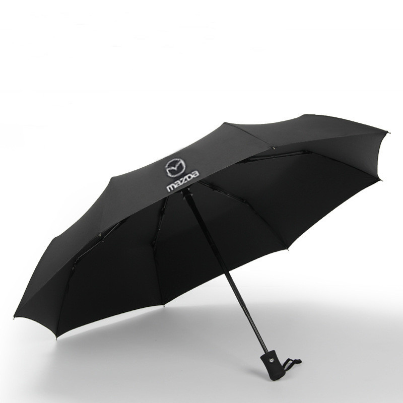 Image 5 - car brand Fully Automatic Folding Umbrella Mazda Umbrella Business Gentleman An Open Man's Fully Automatic Umbrella-in Umbrellas from Home & Garden