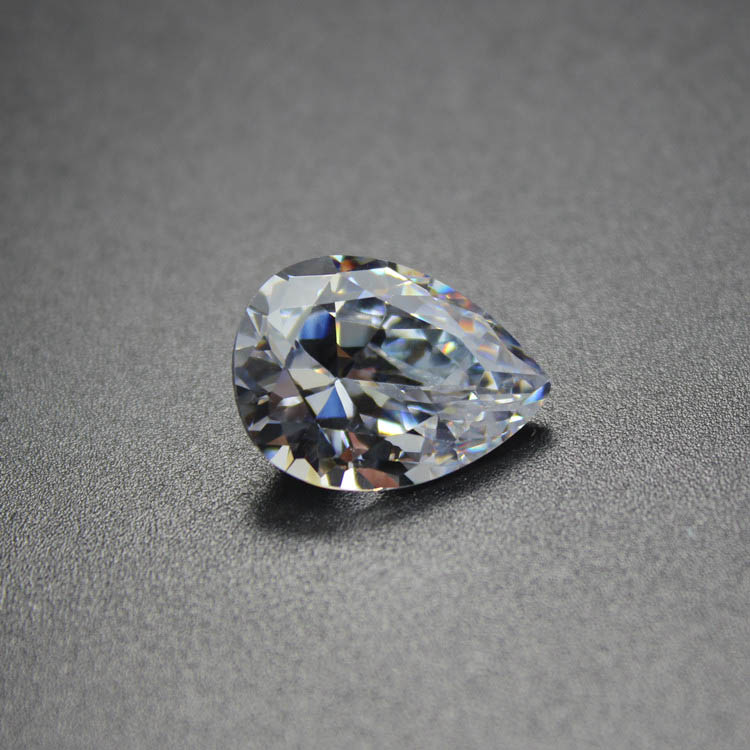 Pear shape white cubic zirconia CZ loose stone for jewelry making diy brilliant shining water drop shape