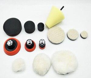 Image 1 - 1 de alta calidad, almohadilla de espuma de pulido fino de 2,3 pulgadas (3 almohadillas de espuma, 3 almohadillas de respaldo, 3 almohadillas de lana japonesas, 3 bolas de lana, 1 cono,