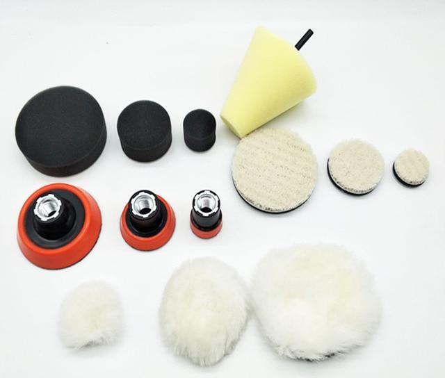 Alta quality1, 2,3 pollice macinazione fine polacco di lucidatura foam pad (3 imbottitura in espanso, 3 backing pad, 3 giapponese pad lana, 3 lana palla, 1cone shape,