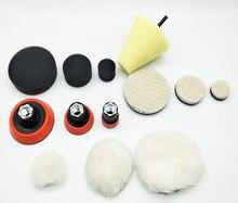 Hohe qualität1, 2,3 zoll feinschleifen polnischen polieren schaumstoffpolster (3 schaum pad, 3 stützteller, 3 japanischen wolle pad, 3 wolle ball, 1cone shape,