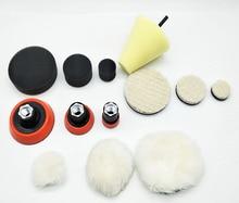 높은 quality1, 2,3 인치 연삭 연마 패드 거품 (3 폼 패드, 3 백업 패드, 3 양모 패드, 3 양모 공, 1cone shape,