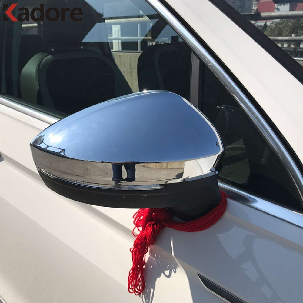 For VW Tiguan MK2 2016-2019 Chrome Rear View Side Mirror Cover Trim Cap Molding