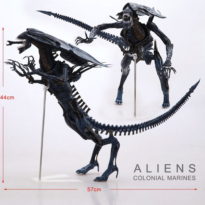 Free Shipping NECA Big 15 Aliens Alien Queen Deluxe Boxed PVC Action Figure Limited Edition Collection Model Toy Gift neca alien lambert compression suit aliens defiance xenomorph warrior alien pvc action figure collectible model toy 18cm