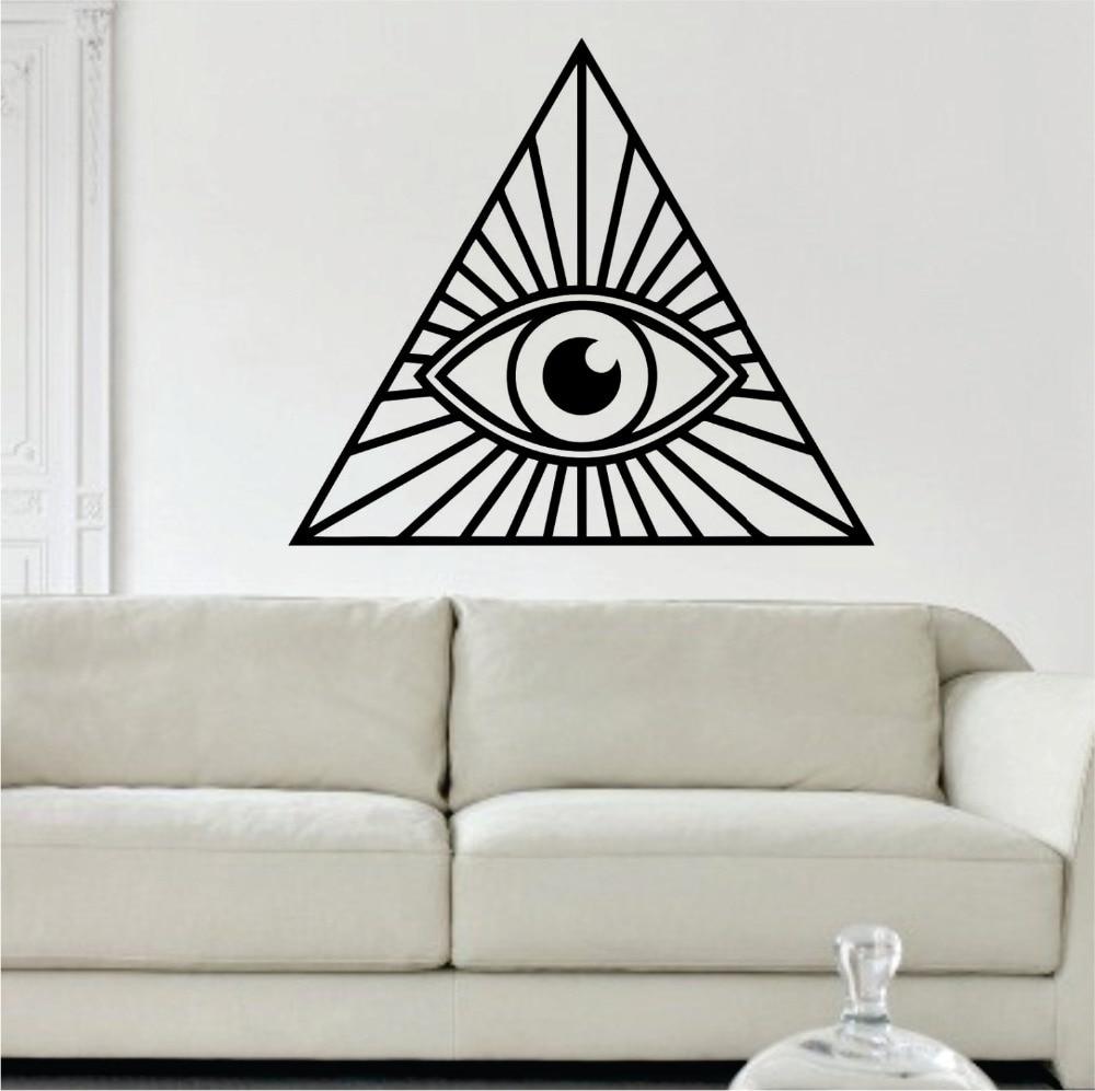 online buy wholesale wall stickers illuminati from china wall buddha wall decal all seeing eye vinyl wall stickers illuminati design home interior livingroom art mural