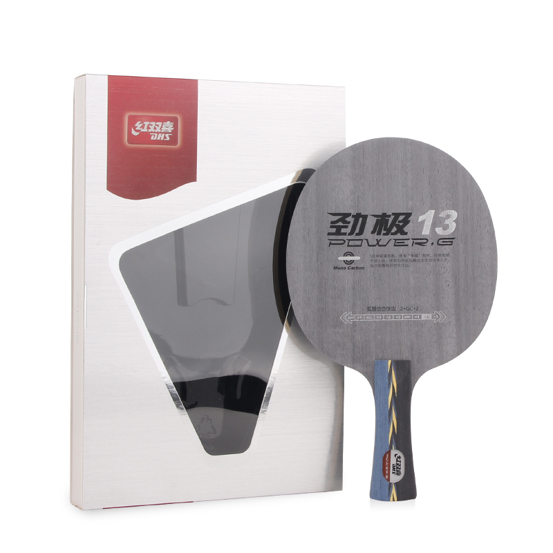 ФОТО DHS Power-G 13 PG 13 Fiberglass Carbon Racket Table Tennis Blade Ping Pong Bat