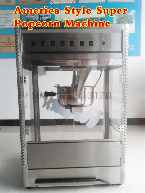 upscale stainless steel commercial popcorn machine american style super popcorn maker high capacity