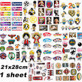 5 sheets waterproof brand stickers for Home decor Travel Suitcase Wall Bike fridge Sliding Plate  car Styling sticker
