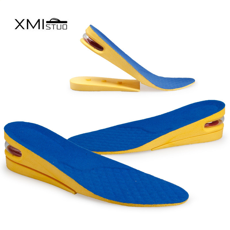 3D arch bow uppers Taller 5CM Air Cushion Height Increase Increasing Elevator Shoe Insoles Pad Lifts Inserts For Women and men