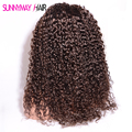 Sunnymay Wig Curly 8A Grade Brazilian Virgin Human Hair #4 Brown Full Lace Wig&Lace Front Wig With Baby Hair For Black Women