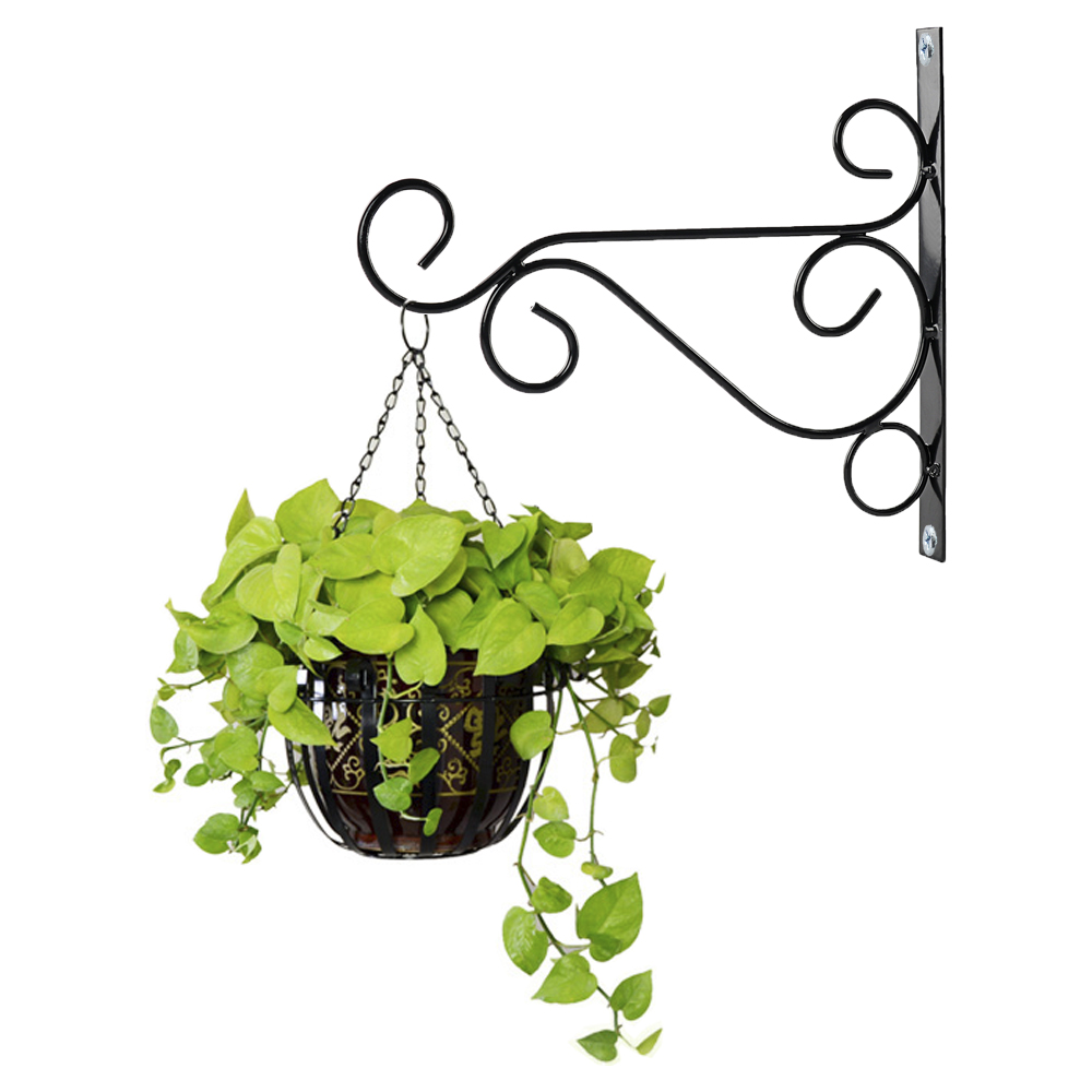 Metal Iron Wall Brackets Garden Hanging Plant Hooks Hangers Lantern Hanging  Basket Hooks Plant Pot Hook For Garden Decoration