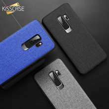 KISSCASE Fabric Leather Case For Samsung Galaxy S8 S9 Plus S7 Edge Note 9 8 Phone Case For Samsung A6 A7 A8 A9 J4 J6 J8 2018 A6S(China)