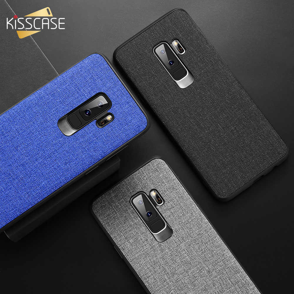 KISSCASE tkanina skórzana skrzynka dla Samsung Galaxy S8 S9 Plus S7 krawędzi uwaga 9 8 przypadku telefonu do Samsung A6 A7 A8 A9 J4 J6 J8 2018 A6S