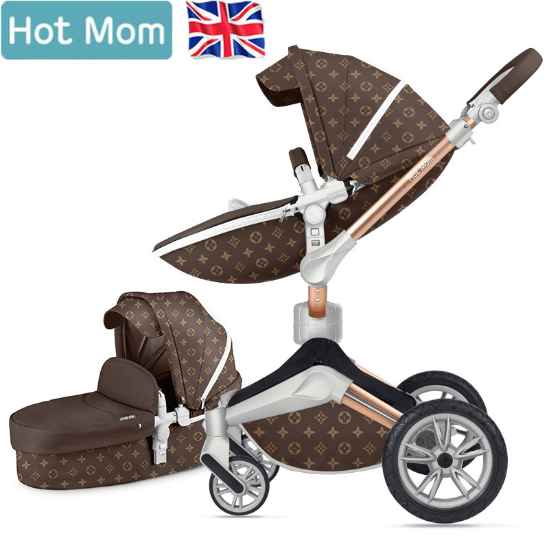 Hotmom baby stroller high landscape seat 360 degree  Rotate stroller can sit reclining folding EU luxurious baby pramHotmom baby stroller high landscape seat 360 degree  Rotate stroller can sit reclining folding EU luxurious baby pram