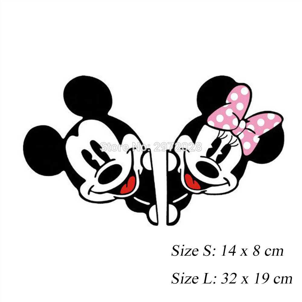 2 x новейшие Микки и Минни креативные наклейки на авто мультфильм наклейка для автомобиля зеркало заднего вида автомобиля бампер тела креативный узор винил