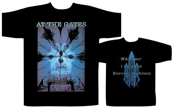 AT THE GATES Burning Darkness T-SHIRT - NUOVO E ORIGINALE