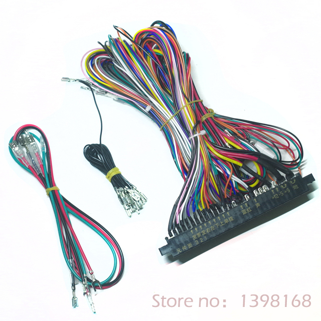 jamma harness 28 pin with 5,6 buttons wires for arcade game machine