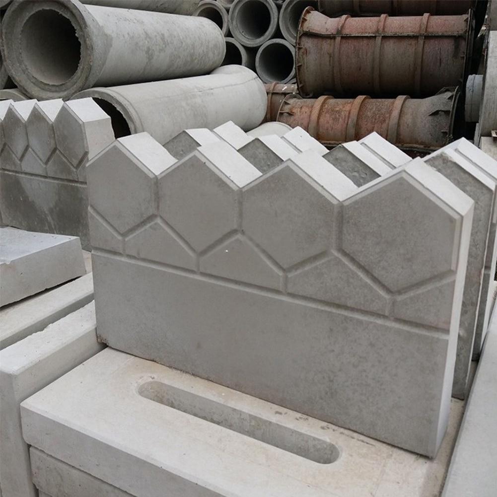 Garden Fence Concrete Stone Road Flower Bed DIY Decor Pave Making Plastic Reusable Antique Cement Brick Mold Lawn Fish Pond
