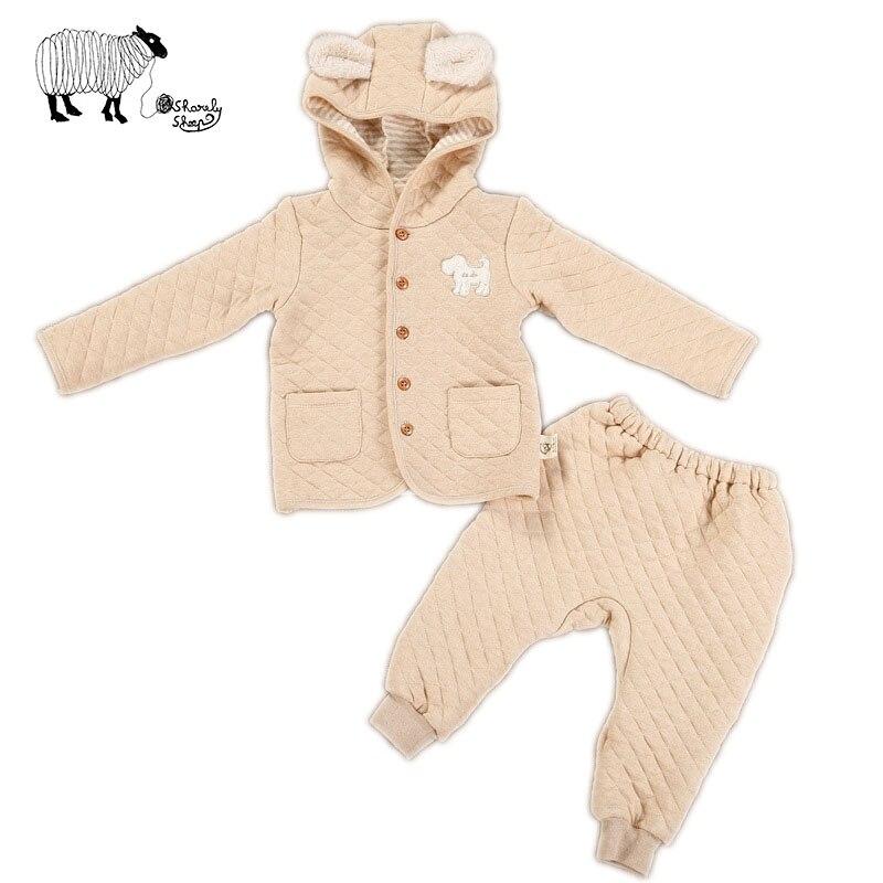 2016 Autumn Winter Newborn Baby Girl Boy Cartoon 100%Cotton 2 Pcs Hoodies Sets Infant Baby casual long-sleeved Tops+Pants Suit