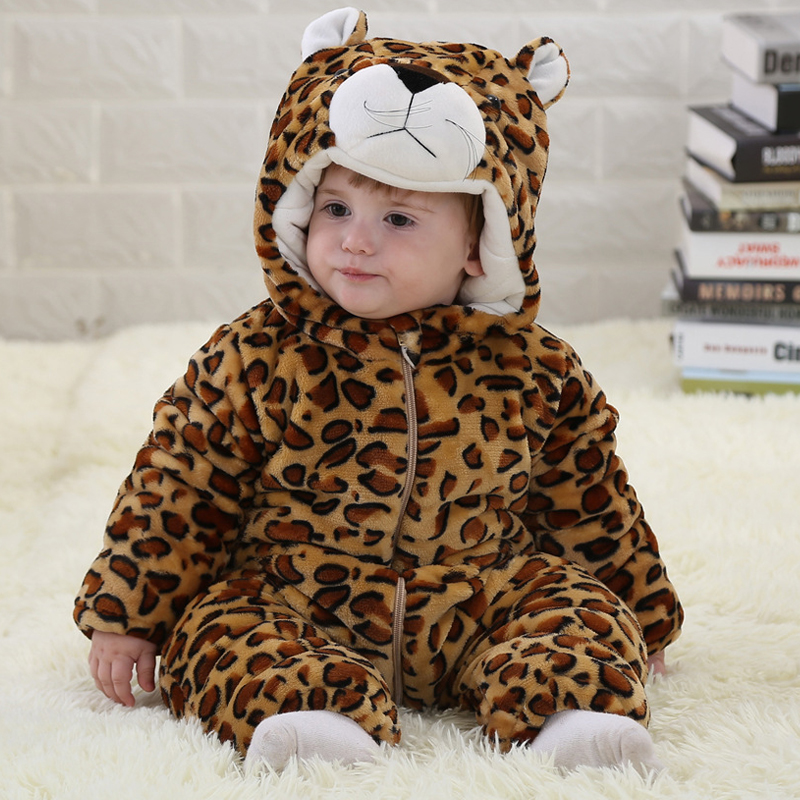 Winter Flannel Thickened Baby Jumpsuits Rompers 0-3 Years Baby Boys Clothes Long Sleeve Spring Children Onesie Infant Overalls