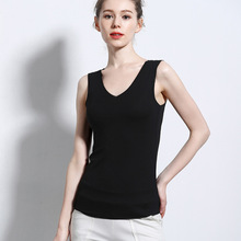 Ladies 2019 Summer Vest V-neck No Trace Slim Bottoming