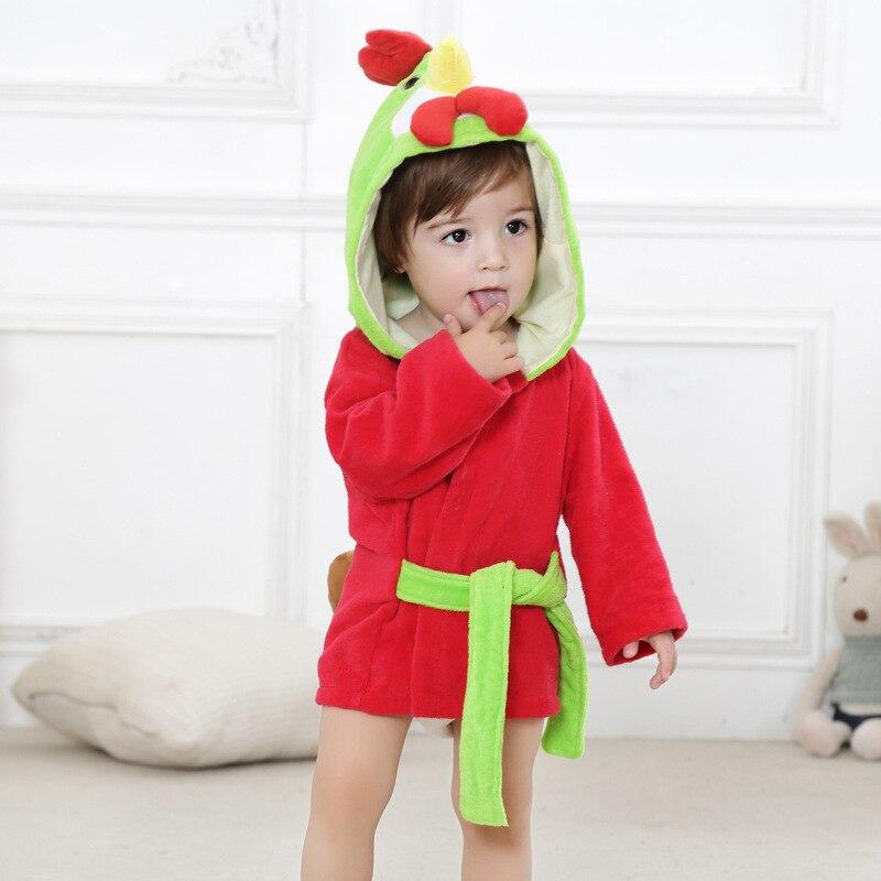 6 стилей; детский банный халат с ворсом и шапкой; Банное полотенце с капюшоном для малышей; модельные пижамы с животными - Цвет: chicken