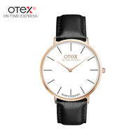 Ot01 2016 Watches Men Luxury Brand Quartz Women Real Leather Nylon Strap Rose Gold Good Quality