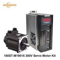 High Quality AC Servo Motor Drive 180ST M19015 380V Servo Motor 19N.M 3.0KW 40A Driver Matched Cable
