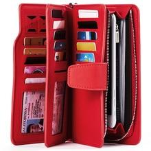Женский кошелек из искусственной кожи, кошелек для отдыха, красный стиль, 3 сложения, высокое качество, женские кошельки, Длинный кошелек для монет, держатели для карт, Carteras