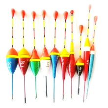 HENGJIA Brand 10Pcs Fishing Floats Set Buoy Bobber Fishing Light Stick Floats Flutuador Mix Size Color For Fishing