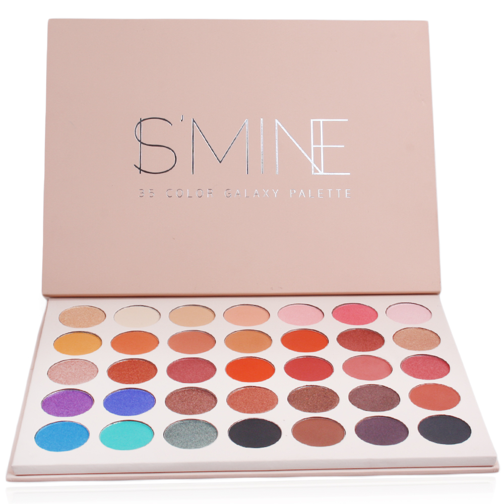 ISMINE new 35 Color eyeshadow palette matte Pearl eye shadow make up palette   makeup shadow cosmetics 35 color plum eyeshadow palette professional matte shimmer eye shadow cosmetics make up for eyes