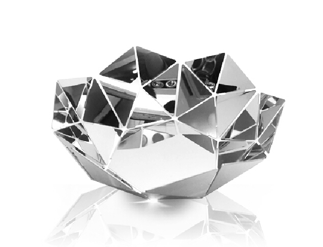 Creative Decorative Fruits Bowl Household Fruit Plate Modern Funny Silver Color Stainless Steel Dry Sink Basket