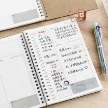 Записные книжки повесток планировщик дневник Еженедельный Органайзер, скрепленный спиралью либрета А5 записные книжки ежемесячный крафт-бумага расписание Filofax