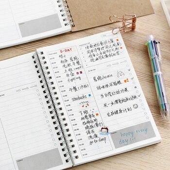 Записные книжки, еженедельный Органайзер, скрепленный спиралью Libretas A5, записные книжки, ежемесячный крафт-бумага, Расписание, 2021, 2020