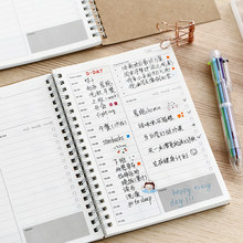 2019 2020 Notebooks Agendas Planner Diary Weekly Spiral Organizer Libretas A5 Note Books Monthly Kraft Paper Schedule Filofax(China)