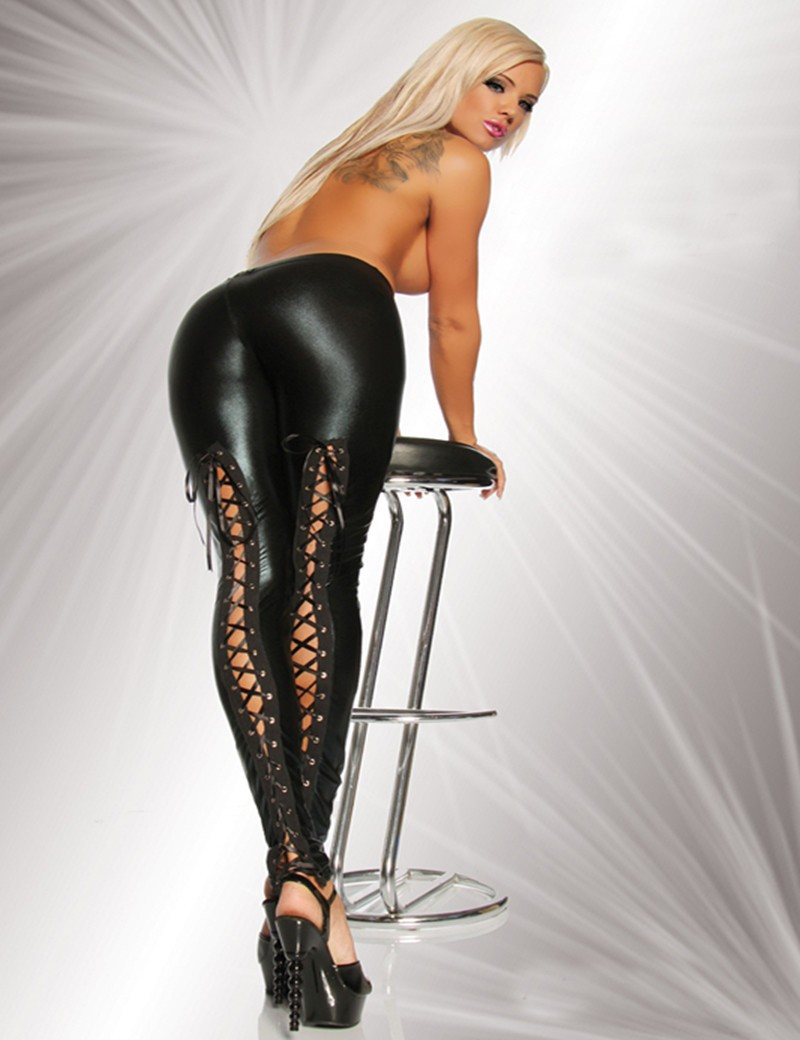 Hot Women Hot Sale Fit Slim Faux Leather Leggings -2362