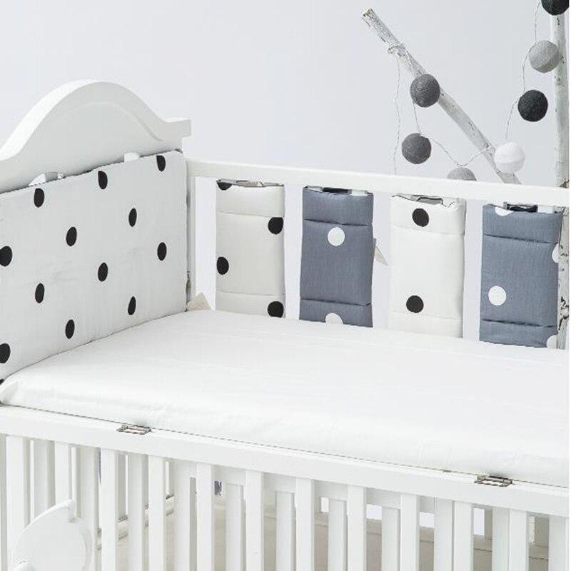 11 unids/set cama de bebé de algodón suave cuna Anti-colisión de la recién nacido sofá cama de bebé parachoques ropa de cama de bebé decoración de la habitación 1 Panel de gasa bufanda Panel de cortinas transparente Premium tratamiento de ventana cortina sólida decoración del hogar cenefa blanca para sala de estar