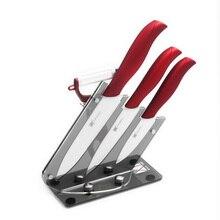 3 Zoll 4 Zoll 5 Zoll Keramikmesser Set + Scharfe Klinge Peeler + Große Kapazität Keramik Küchenmesser Block XYj Marke Kochen werkzeuge