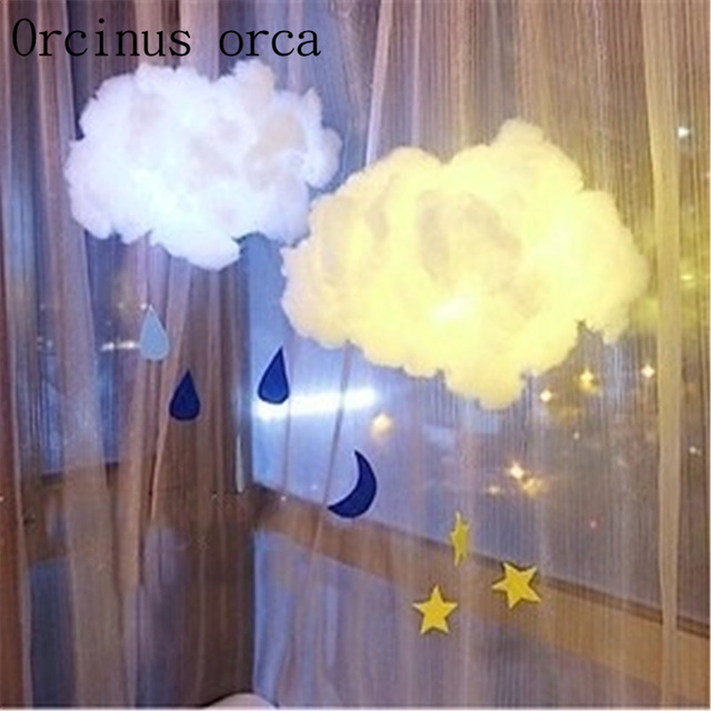 Handmade handmade cloud lights boys girls bedrooms birthday gifts  children\'s room decoration lights free shipping-in Pendant Lights from  Lights & ...
