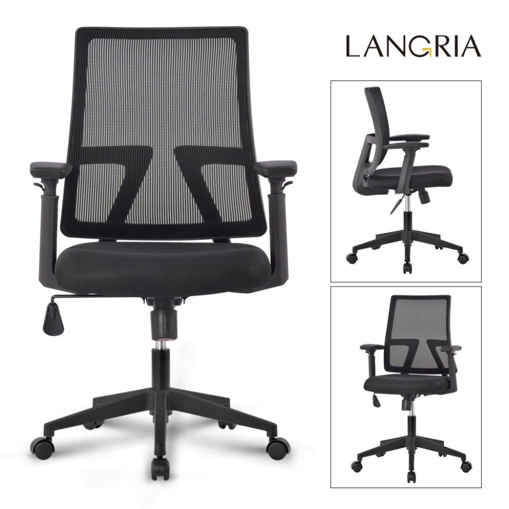 adjustable arm width office chairs. aliexpress.com : buy langria mid back swivel mesh task office chair with 3 way adjustable armrests and synchro tilt computer dest seat from reliable arm width chairs
