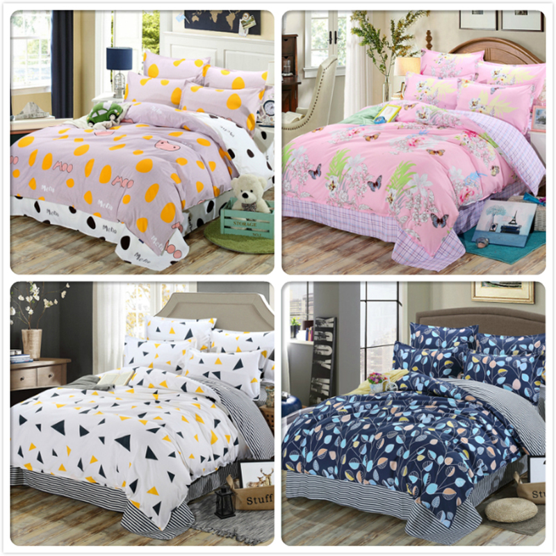 4/5/6/7 Feet Bed Linen 3/4 Pcs Bedding Set Cotton Kids Bedlinens Single Twin Queen King Full Size Duvet Cover 1.5m 1.8m 2m 2.2m Power Source