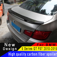For BMW 5 Series F07 GT 528i 535i 550i 2010 2015 Carbon Fiber Rear Wing High Quality Carbon Fiber Spoiler