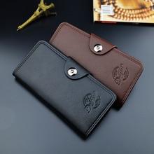 New Men Classic Wallet Luxury Long Clutch Wallets Business Leather Purse Large Capacity Men's Wallets