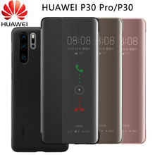 Huawei P30 Pro Case Official 100% Original Smart View Leather Flip Cover Huawei P30 P 30 Pro 30Pro Protective Case(China)