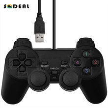 USB Wired Game Controller w Shock Vibration for PC Computer Laptop
