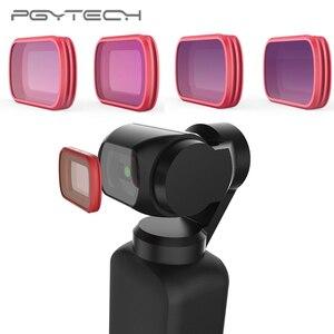 Image 2 - En Stock PGYTECH pour DJI OSMO ensemble de filtres de poche filtre professionnel UV CPL ND8 ND64 ND 64 PL Version progressive